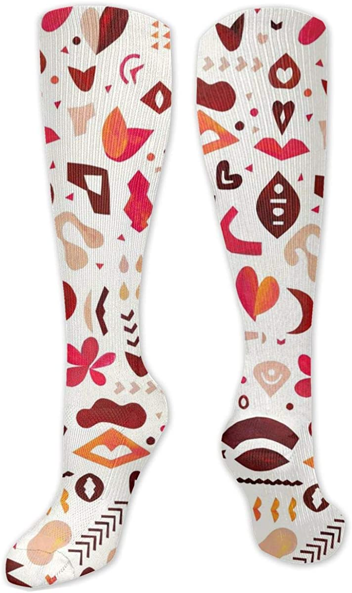 Pattern Retro Knee High Socks Leg Warmer Dresses Long Boot Stockings For Womens Cosplay Daily Wear