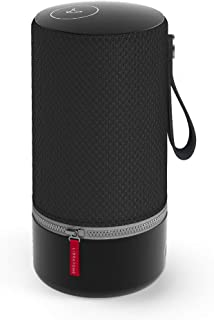 Libratone Zipp Wifi Bluetooth Smart Speaker, 360° Loud Stereo Sound with Dual Mic Build-in, 15W Woofer Deep Bass, 12 Hour Playtime, Airplay2 and Spotify connect, Work with Alexa(Nordic Black)