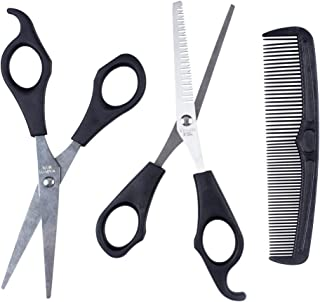 ewinever(R) 1set Hair Cutting & Thinning Scissors Shears Hairdressing Set Comb Thinner Styling