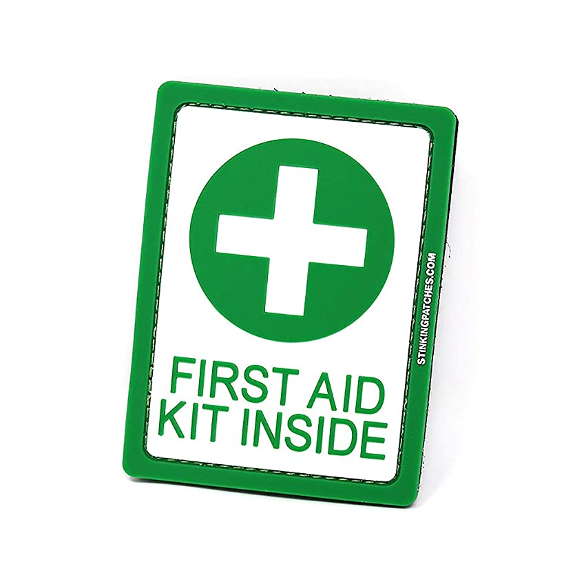 First Aid Kit Inside PVC Tactical Patch   Green and White