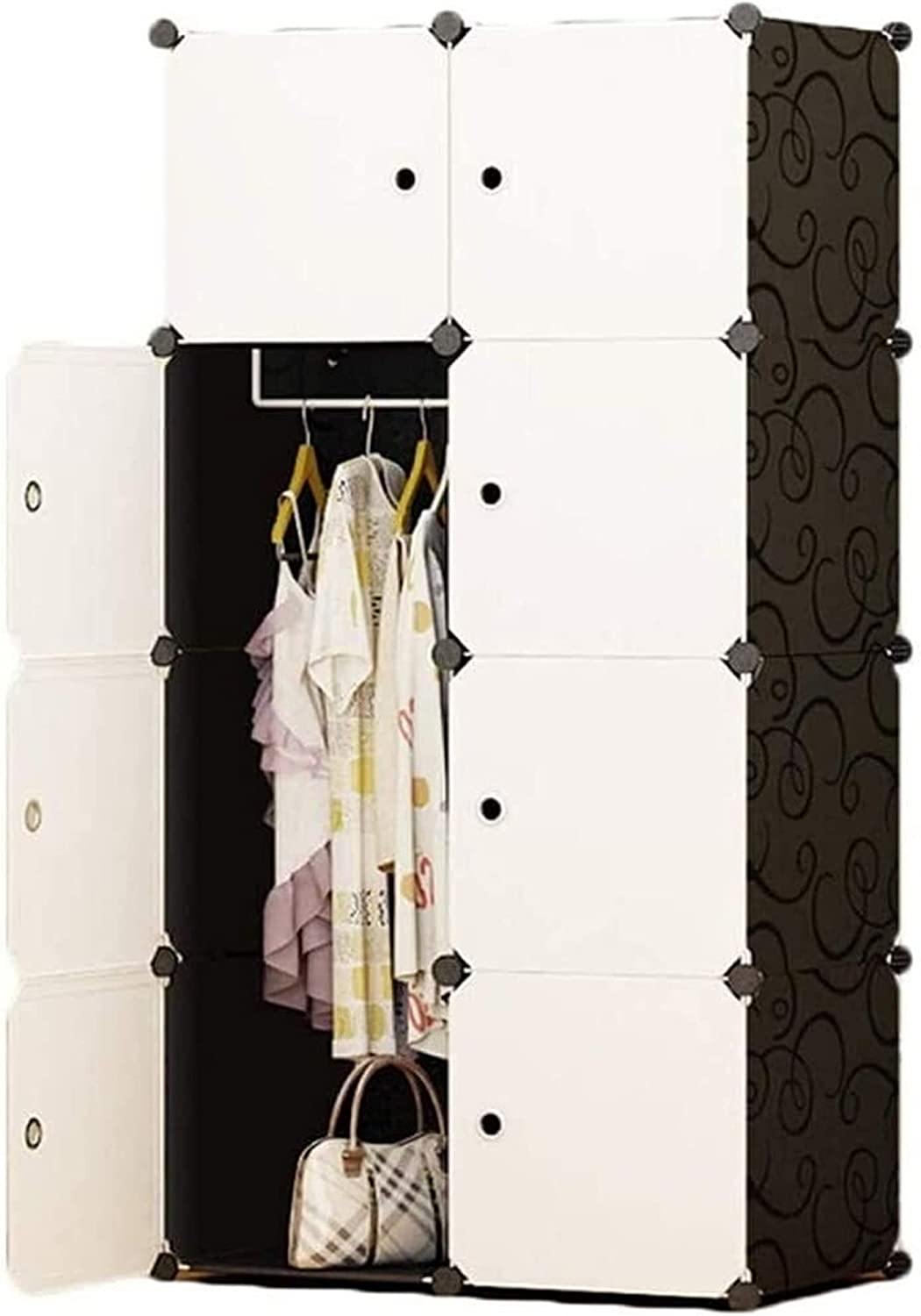 Home Bedroom Armoire Wardrobe Clothes Polyresin Portable shop New Orleans Mall Closet