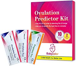 10 Pruebas de Ovulación ultrasensibles (20mlU/ml) y 2 Tests de Embarazo de alta sensibilidad (10mlU/ml) - Formato 5 MM, Kits de Tests de Ovulación y Fertilidad