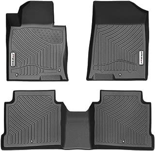 YITAMOTOR Floor Mats for Optima & Sonata, Custom Fit Floor Liners for 2016-2019 Kia Optima, 2015-2019 Hyundai Sonata, 1st & 2nd Row All Weather Protection