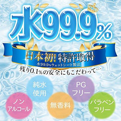 水99.9%水分たっぷりおしりふき厚手60枚入×3個(日本製)