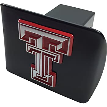 chrome with red trim University of Indiana METAL emblem on chrome METAL Hitch Cover AMG