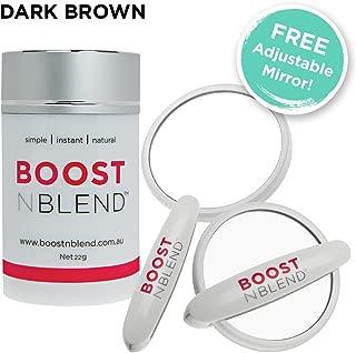 BOOSTnBLEND Dark Brown Hair Loss Concealer with BONUS FREE ADJUSTABLE MIRROR