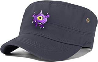 Men's One Eyed One Horned Flying Purple People Eater Graphic Classic Curved Hat, Adult Flat Cap,Adjustable Cap for Men