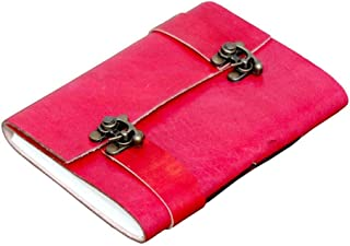 Anshika International Original Leather Journal Double C-Lock Diary with Flap Cover - 7 * 5