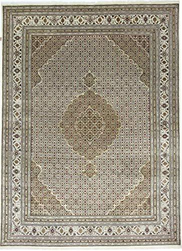Nain Trading Indo Täbriz 339x250 Orientteppich Teppich Grau Handgeknüpft Indien