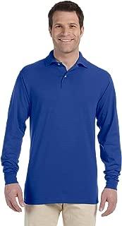 Men's Spot Shield Long Sleeve Polo Sport Shirt