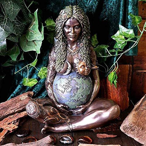Millennial Gaia Statue GHIA Mutter Erde Statue, Harz Erde Mutter Göttin Figur Kunst Kunst Ornament Dekor, Haus und Garten dekorative Figur (1PC)