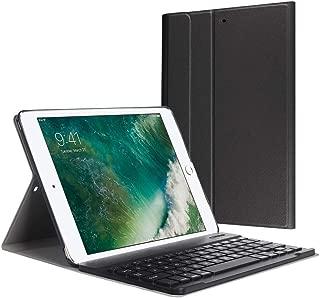 YOMYM Funda con Teclado Bluetooth para iPad 2018/2017, 2018 Nuevo 9.7 Pulgadas, Funda de Teclado de Cuero Diseñada para iPad Air/iPad Air 2/ iPad Pro, Negro