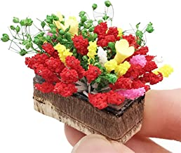 1:12 Scale Yellow /& Red Orchid Dolls House Miniature Flower Garden Accessory 7s