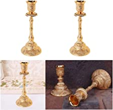NXYCXXJS 2 Pieces of Vintage One-arm Candelabra for Wedding Events, Luxury Candlesticks for Home Decoration