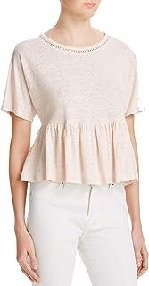 Rebecca Taylor Womens Textured Metallic Top Light Pink, S
