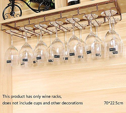 Global- Portabottiglie/Porta calici in Bronzo/Portabicchieri/Porta Bicchiere di Vino Rosso, Ornamenti per armadietto da Bar Multifunzione (Dimensioni : 70cm)