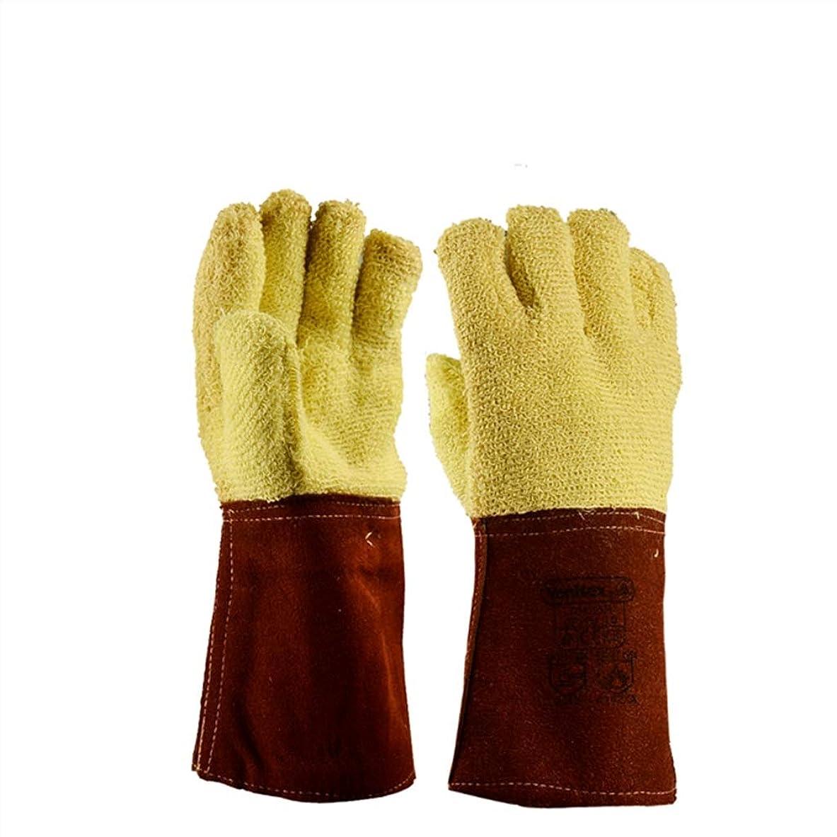 人占めるブラウンHBJP 360度高温耐性手袋、カット耐性手袋、保護手袋 手袋