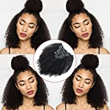 Lovrio Afro Kinky Curly Clip in Hair Extensions...