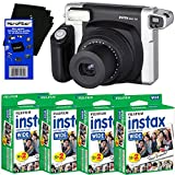 Fujifilm INSTAX 300 Wide-Format Instant Photo Film Camera (Black/Silver) + Fujifilm instax Wide Instant Film (80 Sheets) + HeroFiber Ultra Gentle Cleaning Cloth