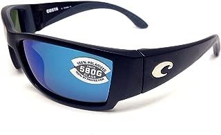 New Costa Del Mar Corbina 580G Black/Blue Mirror Polarized Lens 60mm Sunglasses