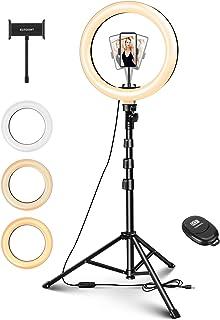 """ELEGIANT 10 """"Selfiestativ Ljus ring, LED Ring Light med mobilhållare med dimbar fjärrkontroll för livestreaming, Makeup Yo..."""