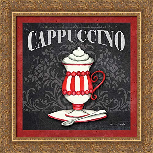Wright, Sydney 20x20 Gold Ornate Framed Canvas Art Print Titled: Cappuccino