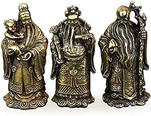 JYKFJ Adornos de Feng Shui Estatua de Fu Lu Shou, Escultura de Buena Suerte, decoración de Manualidades para el hogar, Escritorio, Adornos, A