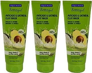 Freeman Facial Clay Mask, Avocado & Oatmeal, Purifying 6 fl oz/150 ml (Set of 3)