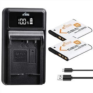 Pickle Power 2 Pack NP-BN1 Batteries and Battery Charger for Sony Cyber-Shot DSC-W800 DSC-W530 DSC-W570 DSC-W650 DSC-W830 DSC-W310 DSC-TX10 TX20 TX30 DSC-WX100 DSC-W800 DSC-QX10 DSC-QX30 DSC-QX100