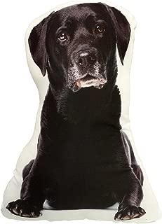 KT Black Lab Labrador Retriever Stuffed Dog Throw Pillow Decor Gift