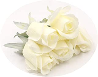 5Pcs/Lot 7Cm Artificial Flower Tulip Silk Head for Wedding Decoration DIY Scrapbooking Handmade Craft Accessories Wreath Flower Milk White