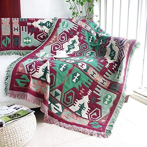 BZRXQR Versátil Tortuga geométrica Manta del Tiro Funda de sofá Decorativo Costura Costura multifunción Mantas for Camas sofá (Size : 90x150cm)