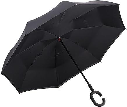 反向折叠伞双层防风防紫外线 Kazbrella