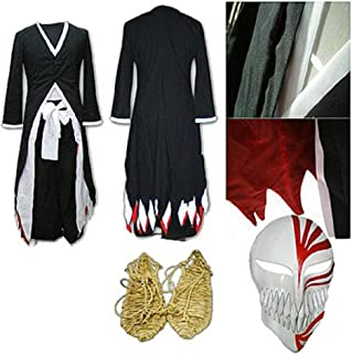 Bleach Kurosaki Ichigo Arrancar Cosplay Costume Sword