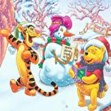 5D DIY Diamond Painting by Number Kit for Adults and Kids,Christmas Winnie The Pooh Round Dril Beads Crystal Rhinestone Cross Stitch Picture Supplies Arts Craft Wall Dcor or Christmas,12'X12'