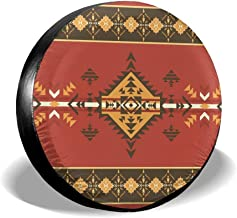 Ximanwoai Ethnic Aztec Native American Tire Covers for RV Wheel Motorhome Wheel Covers, Waterproof UV Coating Tire Protectors for Trailer Truck Camper Auto, Fits 14-17inchTire