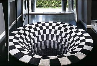 Amazon.fr : tapis rond noir et blanc
