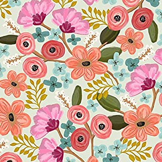 Printed Tissue Paper for Gift Wrapping with Design (Friendly Flowers), 24 Large Sheets (20x30)