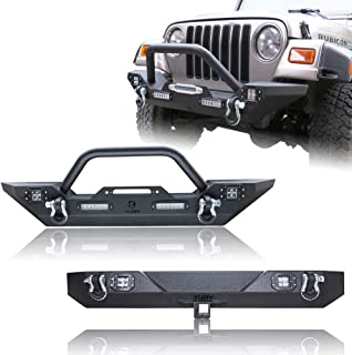Hunter Front Bumper + Rear Bumper with Winch Plate & LED Lights & 2