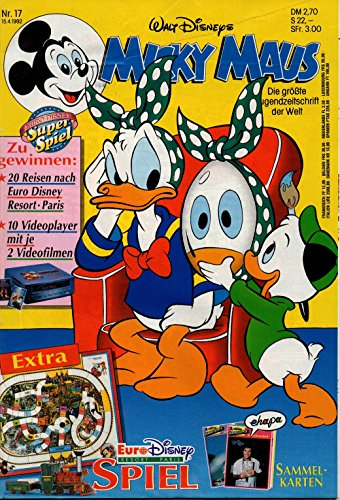 Micky Maus Zeitschrift - Nr. 17 - Vom 15.4.1992 - Komplett mit dem Heft-Extra