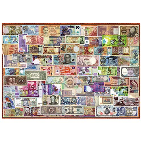 MTAMMD Puzzles Rompecabezas De Madera Billetes De Banco del