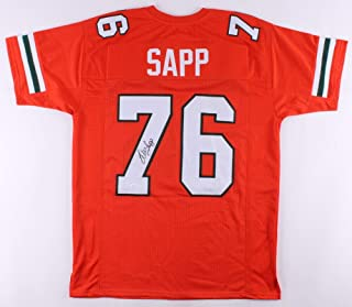 Warren Sapp Autographed Signed Miami Hurricanes Jersey (JSA COA) Buccaneers 7xpro Bowl D.t
