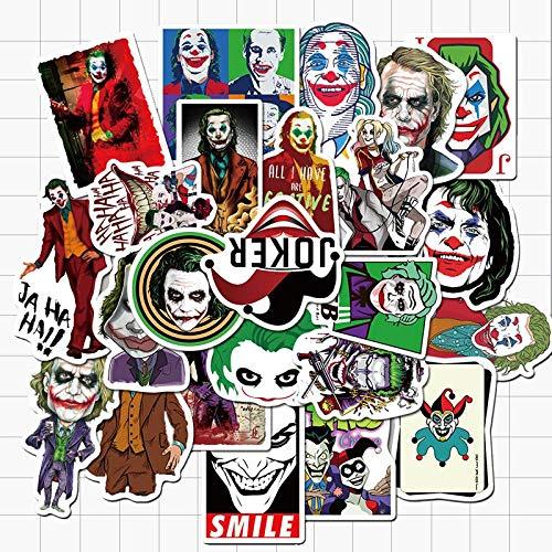 Dc Villain Joker Clown Graffiti adesivi impermeabili in vinile PVC per computer portatile, casco, bicicletta, bagagli, auto