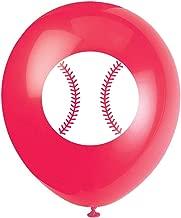 MAGJUCHE Baseball Party Latex Balloons, 16pcs Baseball Sport Themed Birthday Party Decorations, Supplies