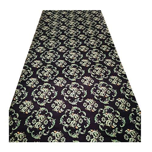Jcy-La alfombra de Pasillo, Sala de Estar Cocina Resistente Al Desgaste,Alfombra Duradero Antideslizante, Fácil de Limpiar (Color : Black, Size : 0.6x5m)