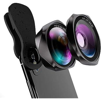 スマホ 広角レンズ 高画質 マクロレンズ クリップ式スマホ用カメラレンズ Yarrashop自撮りレンズ 歪みやケラレなし 三年保証