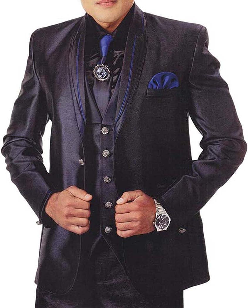 INMONARCH Mens Purple Wine 7 Pc Tuxedo Suit Exclusive TX918