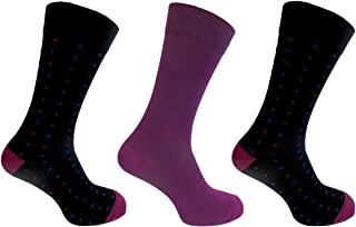 Mens Alexander Green Bamboo Socks 7-11 Polka Dot Style