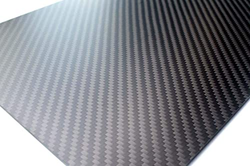 cncarbonfiber Carbon Fiber Sheet 1.5mm 400x250x1.5mm Panel Plate Board Twill Matte for RC Drone Quadcopter