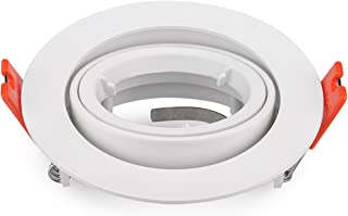 Pack of 2 GU10 Recessed Downlighs Adjustable White Round Lamp fixtures Fitting